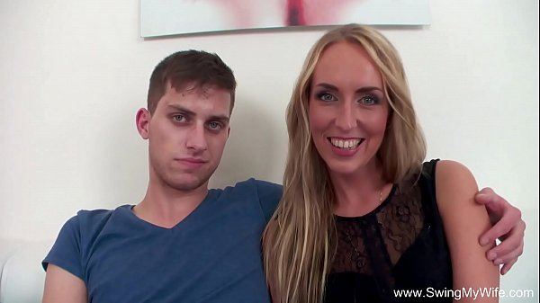Blonde Wife Fucks BBC For Hubby